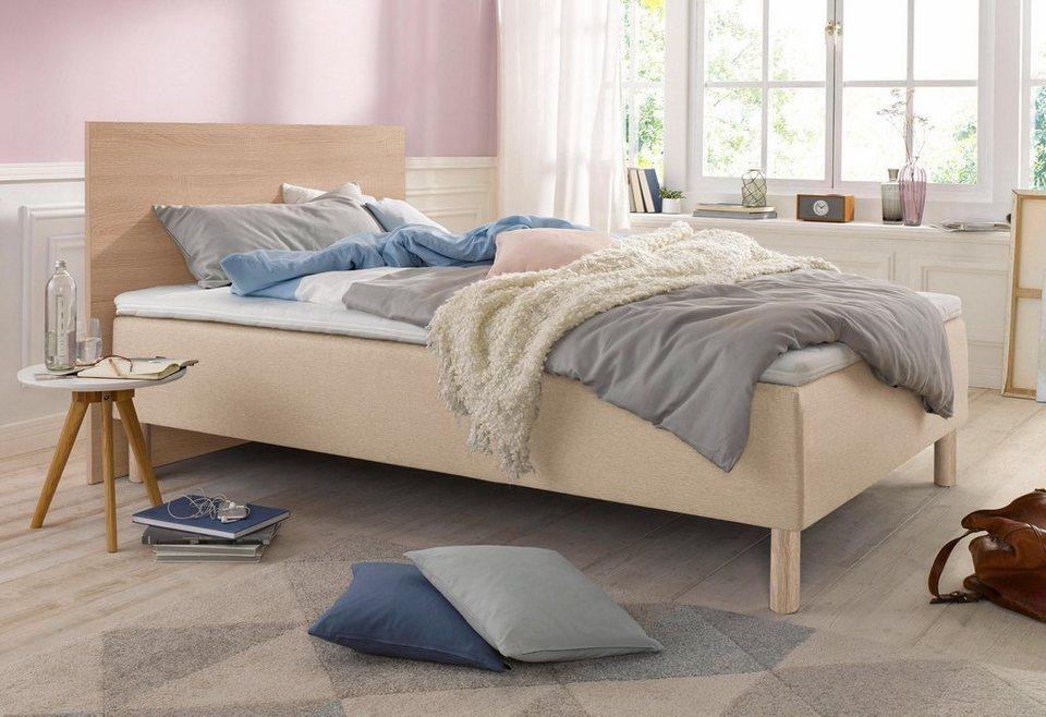 breckle boxspringbett inkl topper online kaufen otto. Black Bedroom Furniture Sets. Home Design Ideas