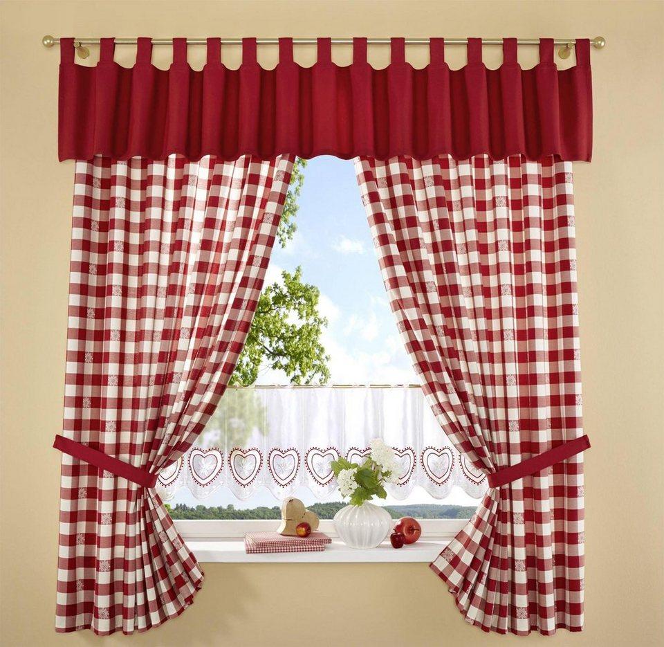 Vorhang, Stickereien Plauen, »Durach« (2 Stück) in rot