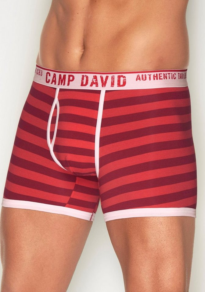 Camp David Boxer in rot gestreift