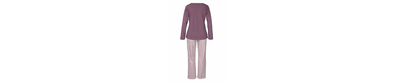 Arizona Langärmliger Pyjama mit karierter Hose Billiger Großhandel Steckdose Footaction Rabatt Authentisch Verbilligte AJihmA8