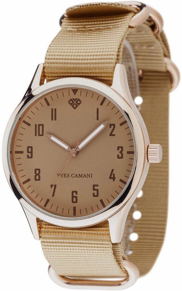 Yves Camani Quarzuhr »UNISSON, YC1084-F« mit 1 Wechselband (Set, 2 tlg.) in beige