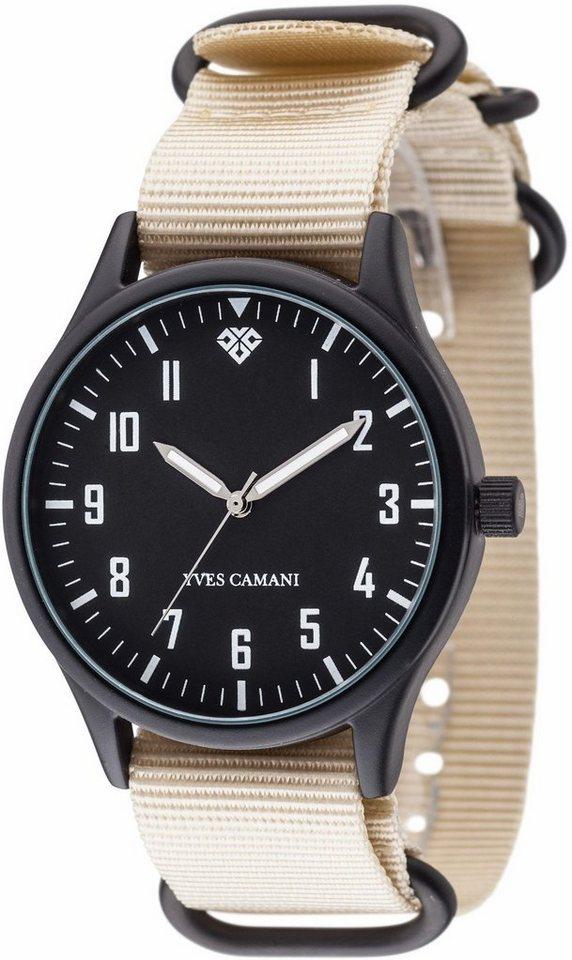 Yves Camani Quarzuhr »UNISSON, YC1084-D« mit 1 Wechselband (Set, 2 tlg.) in beige