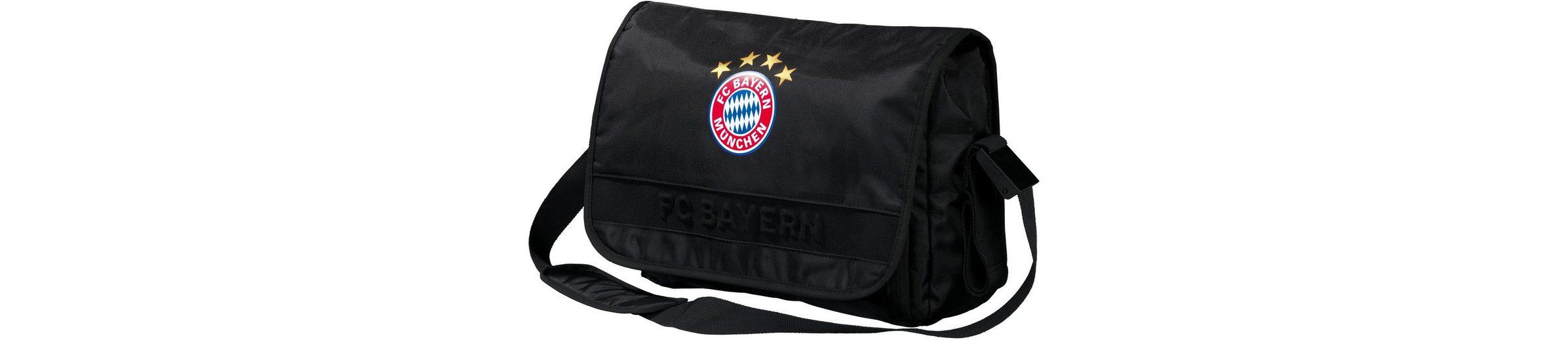 FC Bayern Umhängetasche mit Laptopfach, »Messenger Bag, schwarz«