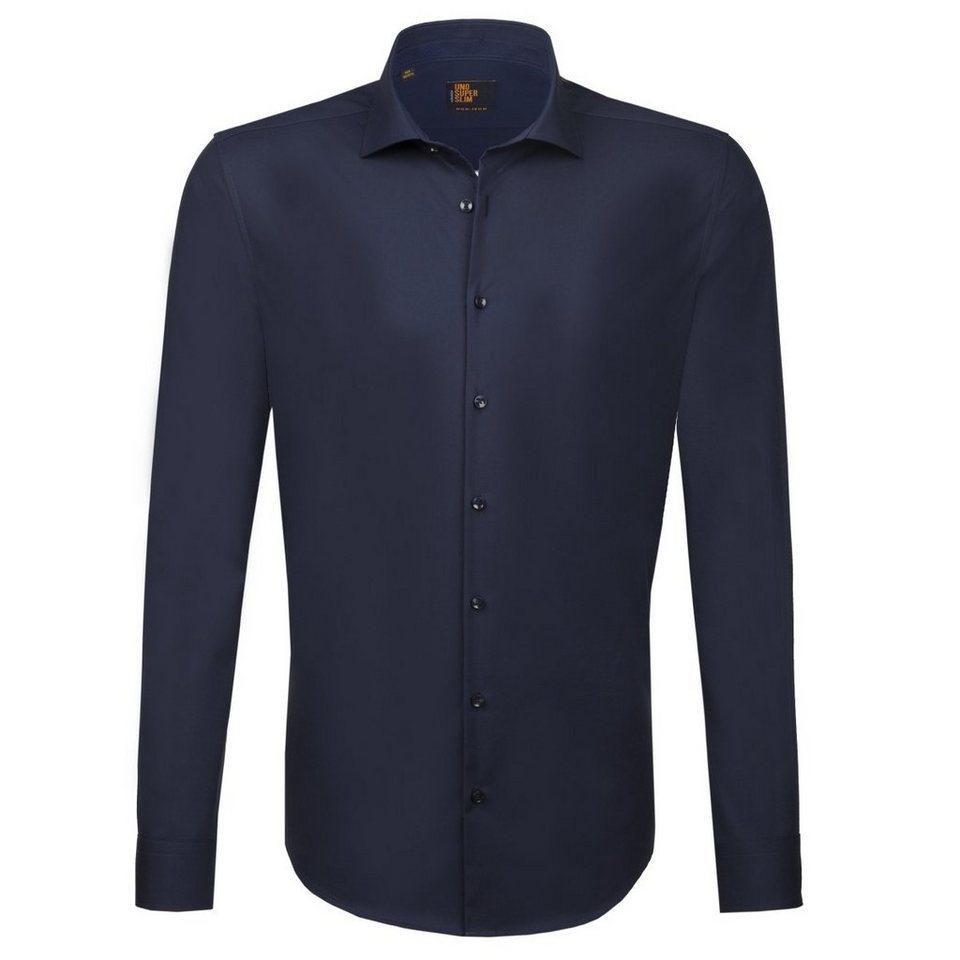 Seidensticker Businesshemd »UNO SUPER SLIM« in blau-dunkelblau