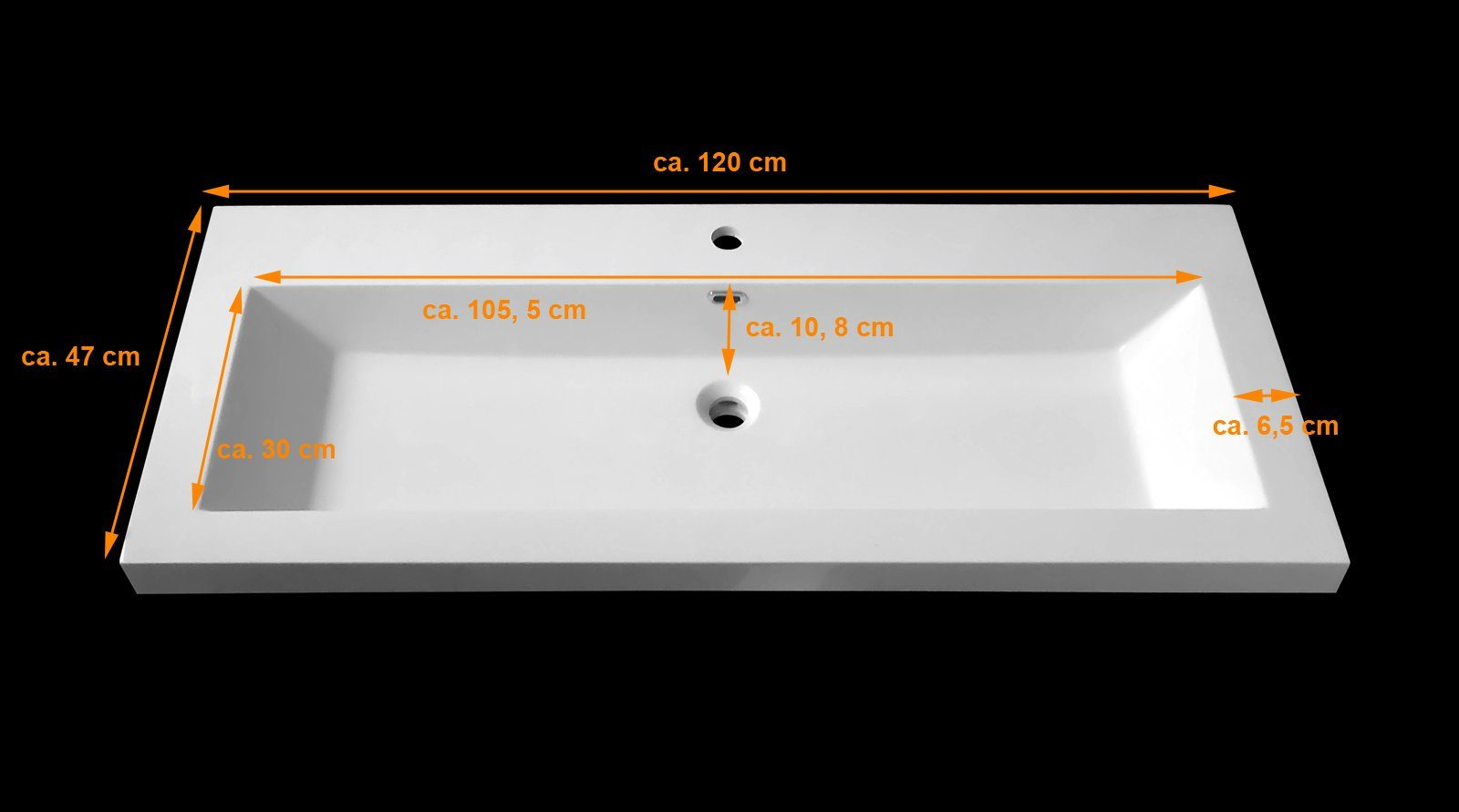 SalesFever Badmöbel-Set, Breite 120 cm (5-tlg.) »Zalona Deluxe«