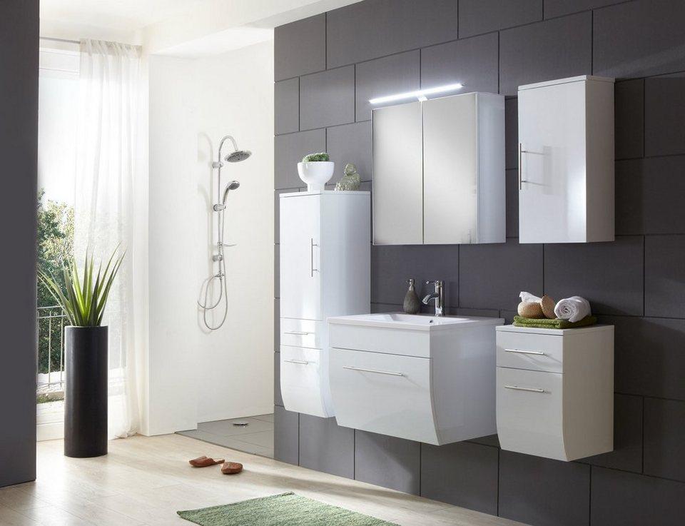 SalesFever Badmöbel-Set, Breite 70 cm (5-tlg.) »Zwenna« in weiß