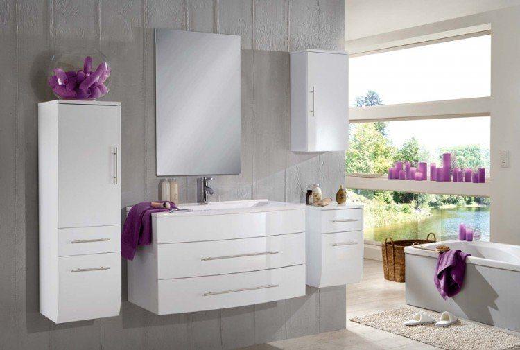 SalesFever Badmöbel-Set, Breite 100 cm (5-tlg.) »Zalona Light« in weiß