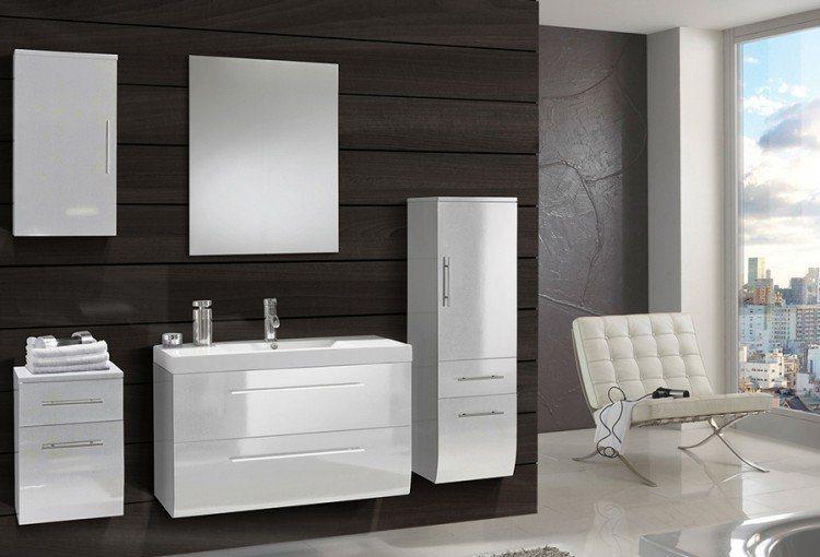 SalesFever Badmöbel-Set, Breite 90 cm (5-tlg.) »Zalona Light« in weiß
