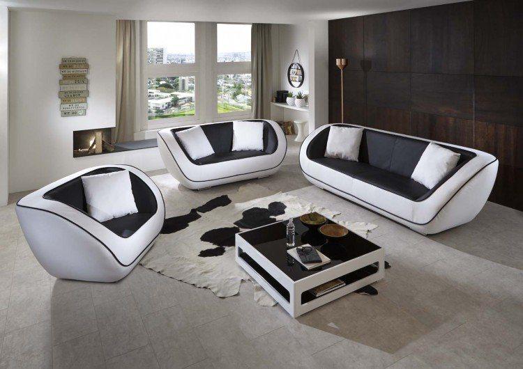 SalesFever Sofa Garnitur (3-tlg.) »Naomi«