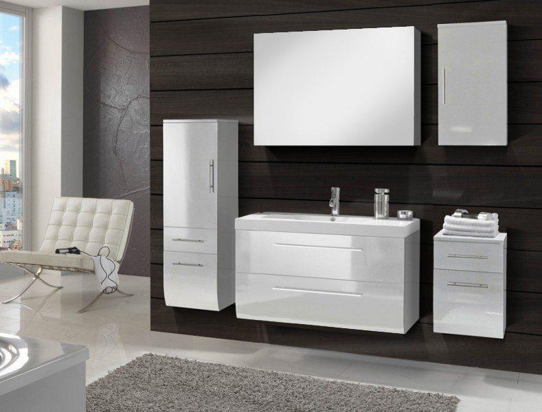 SalesFever Badmöbel-Set, Breite 120 cm (5-tlg.) »Zalona Deluxe« in weiß