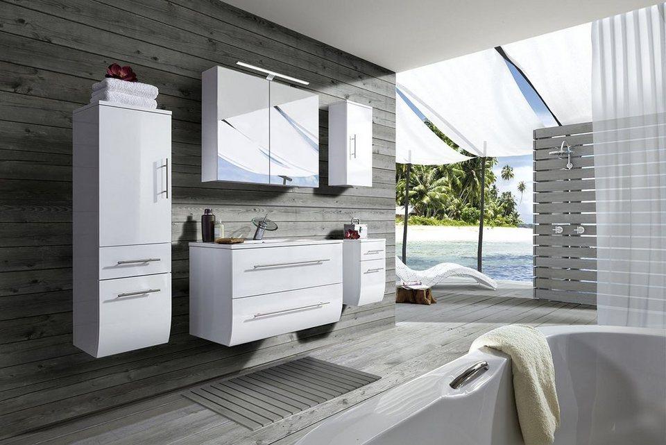 SalesFever Badmöbel-Set, Breite 90 cm (5-tlg.) »Zwenna« in weiß