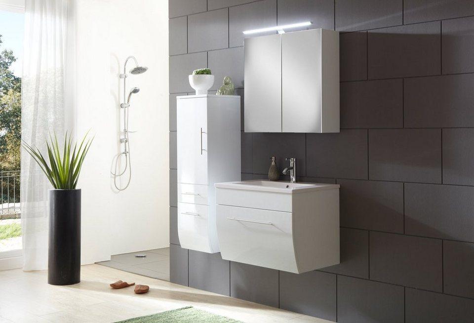 SalesFever Badmöbel-Set, Breite 70 cm (3-tlg.) »Zwenna« in weiß