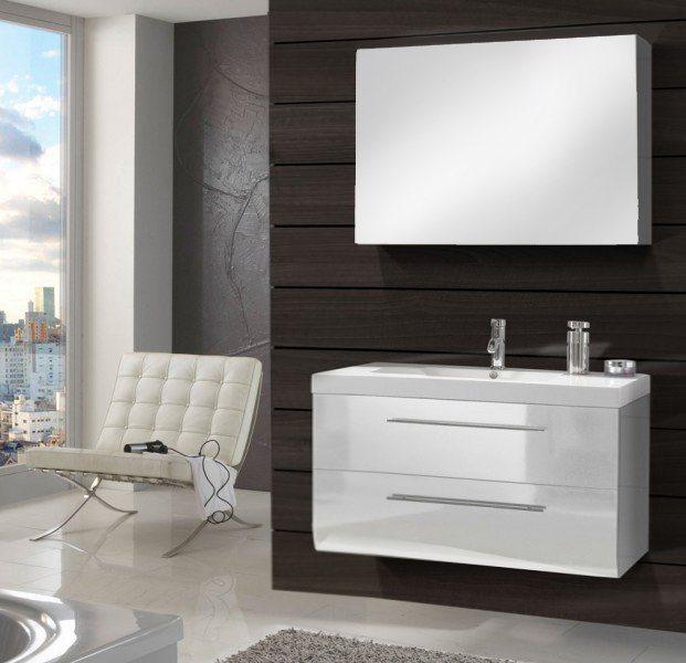 SalesFever Badmöbel-Set, Breite 120 cm (2-tlg.) »Zalona Deluxe« in weiß