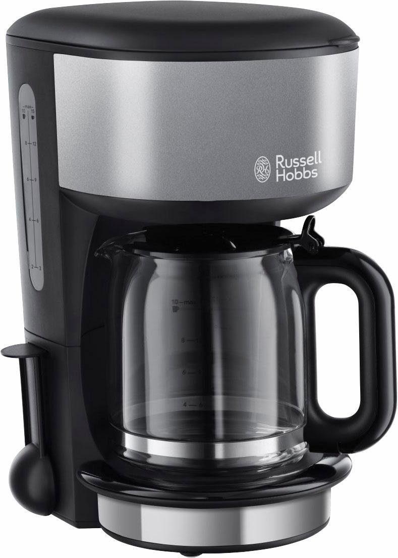 RUSSELL HOBBS Filterkaffeemaschine Colours Plus+ Storm Grey 20132-56, 1,25l Kaffeekanne, Papierfilter 1x4