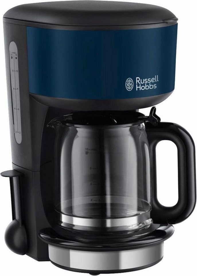Russell Hobbs Glas-Kaffeemaschine, Colours Royal Blue 20134-56, für 1,25 l, 1000 Watt in Royal Blau