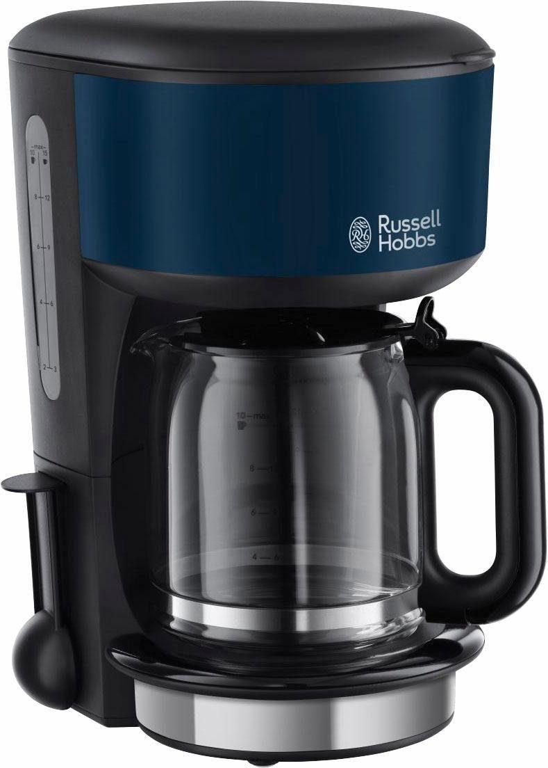 Russell Hobbs Glas-Kaffeemaschine, Colours Royal Blue 20134-56, für 1,25 l, 1000 Watt