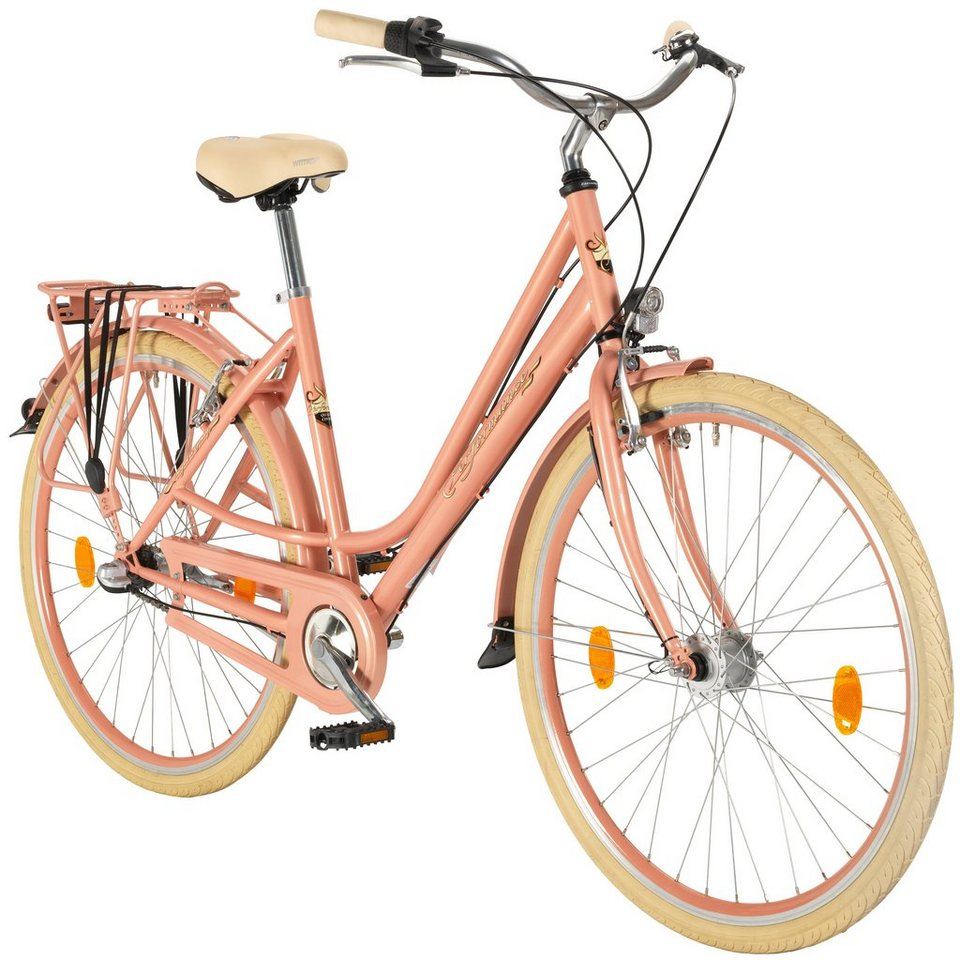 Hollandrad Damen »Toulouse«, 28 Zoll, 3 Gang, Rücktrittbremse in rosa