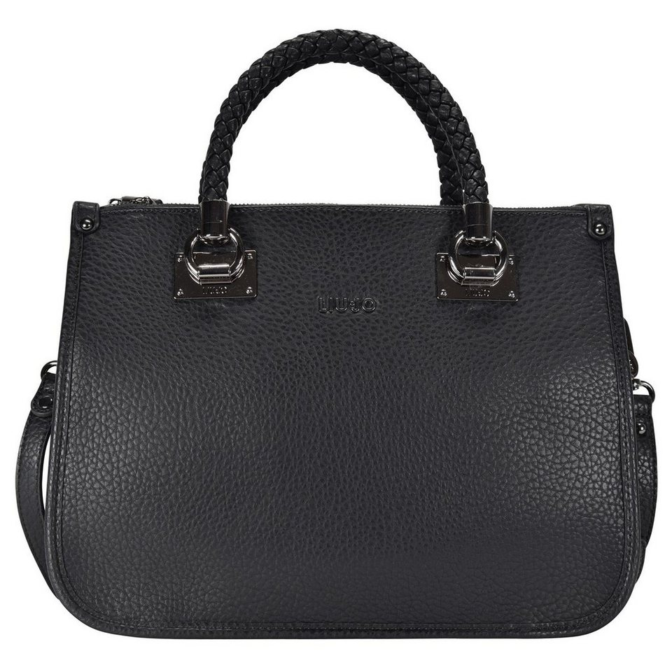Liu Jo Shopping M Quadrata Handtasche 35 cm in nero/gun