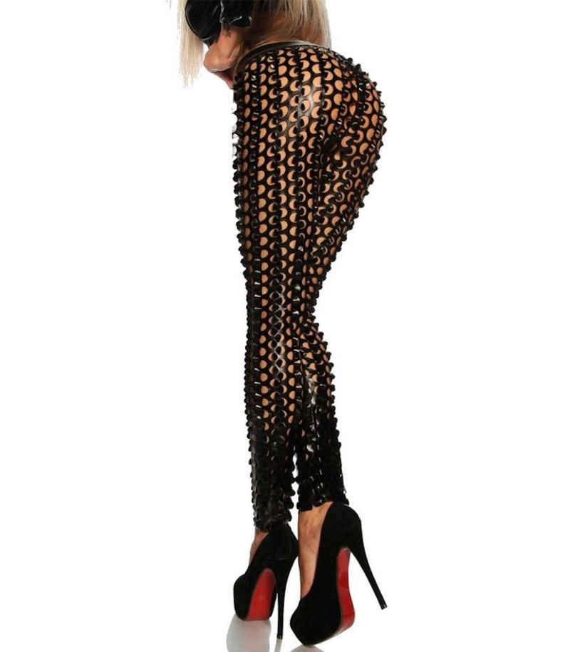 Saresia Leggings »Leggings der Stars in Metallic-Optik Gogo Hose in silber, schwarz, gold, Made in EU«