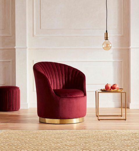 Guido Maria Kretschmer Home&Living Sessel »Warna«, mit Drehfunktion