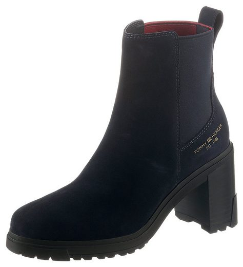 Tommy Hilfiger »TH OUTDOOR HIGH HEEL BOOT« Chelseaboots mit Logodruck