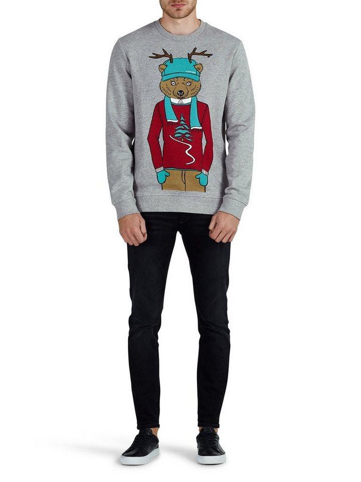 Jack & Jones Weihnachts- Sweatshirt in Light Grey Melange