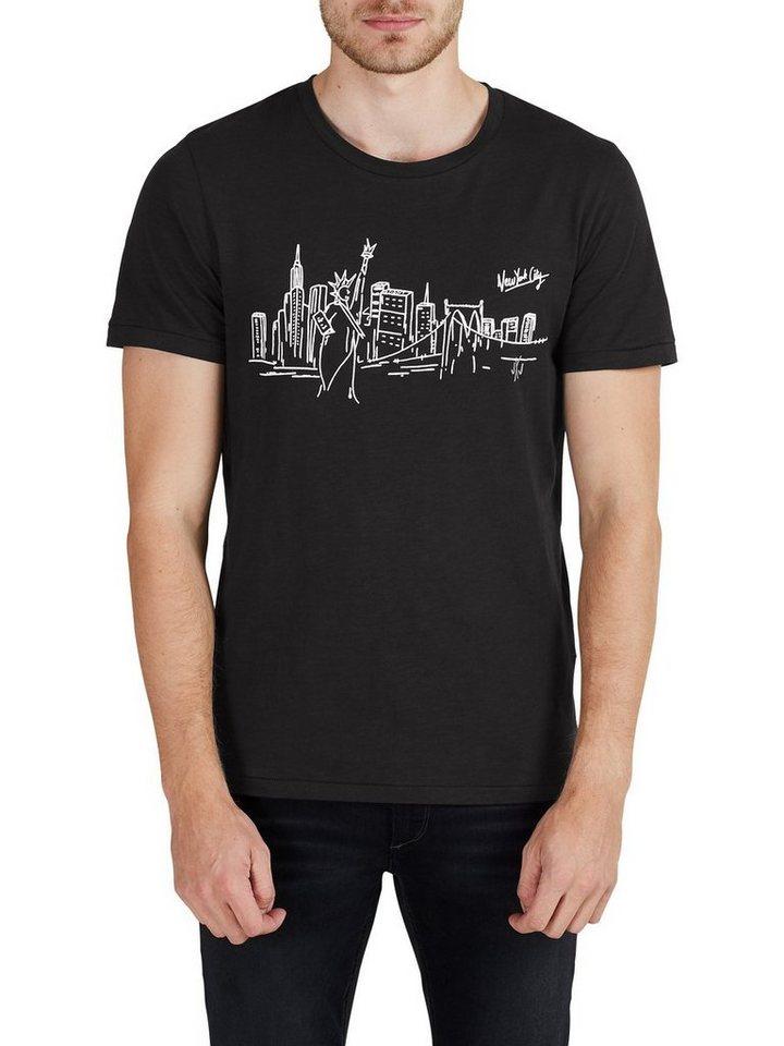Jack & Jones Bedrucktes T-Shirt in Black