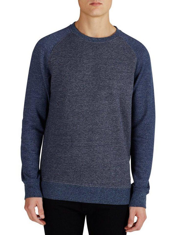Jack & Jones Melange Rundhalsausschnitt- Sweatshirt in Mood Indigo