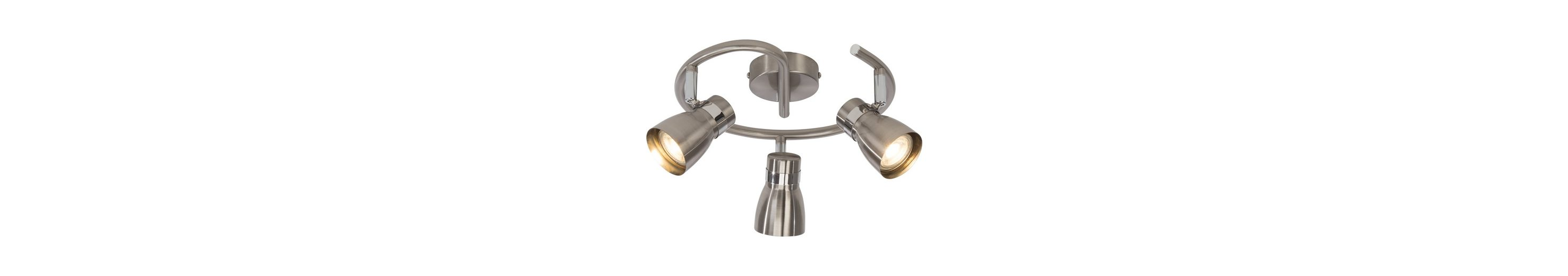 BreLight Mattie LED Spotspirale, 3-flammig eisen/chrom