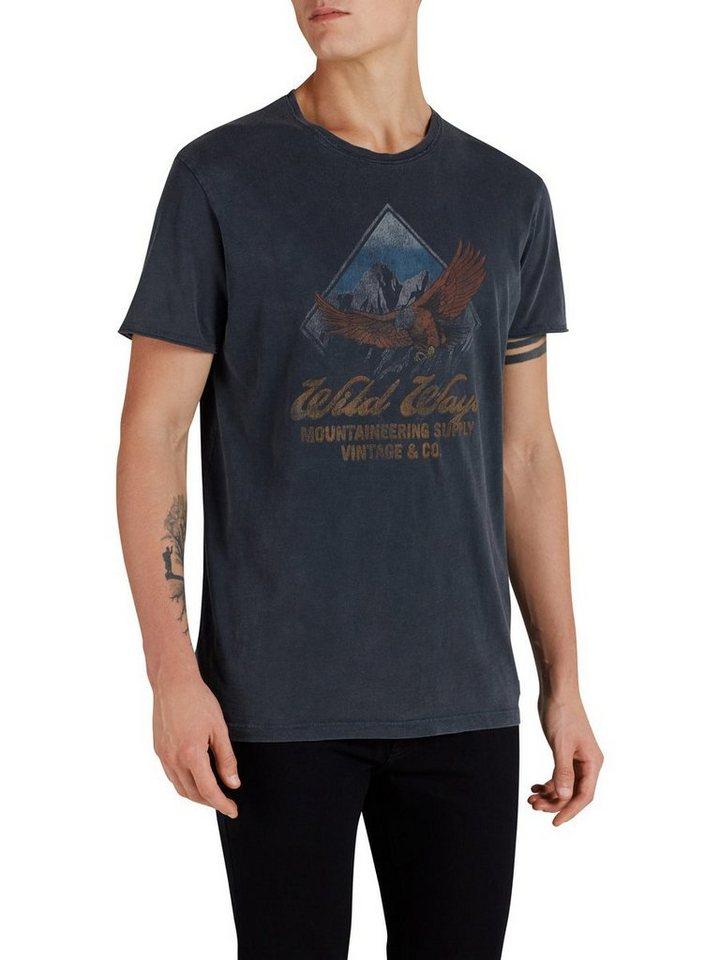 Jack & Jones Rustikales Artwork- T-Shirt in Caviar