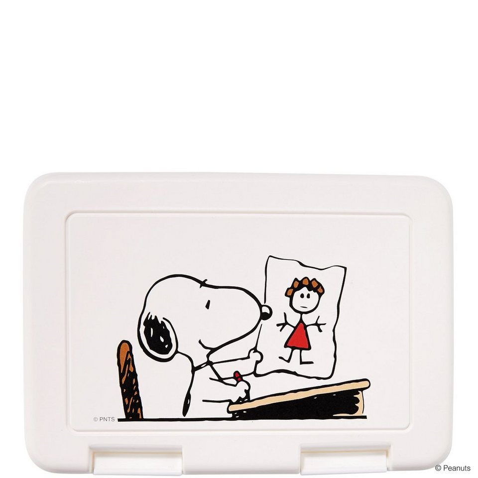 BUTLERS PEANUTS »Brotdose Snoopy Schule« in weiss