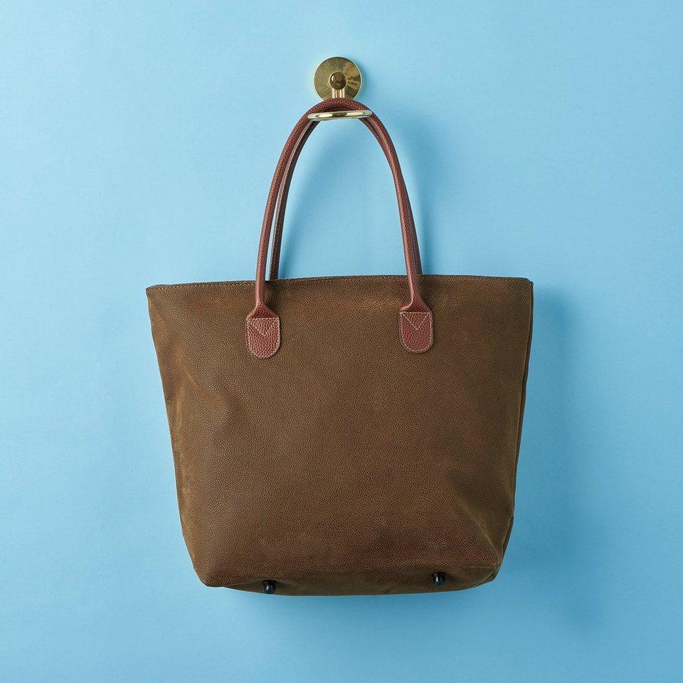 BUTLERS PACK & RIDE »Einkaufstasche mit Reißverschluss« in braun