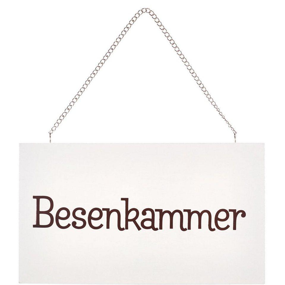 """BUTLERS STORYBOARD »Schild """"Besenkammer""""« in Weiß"""
