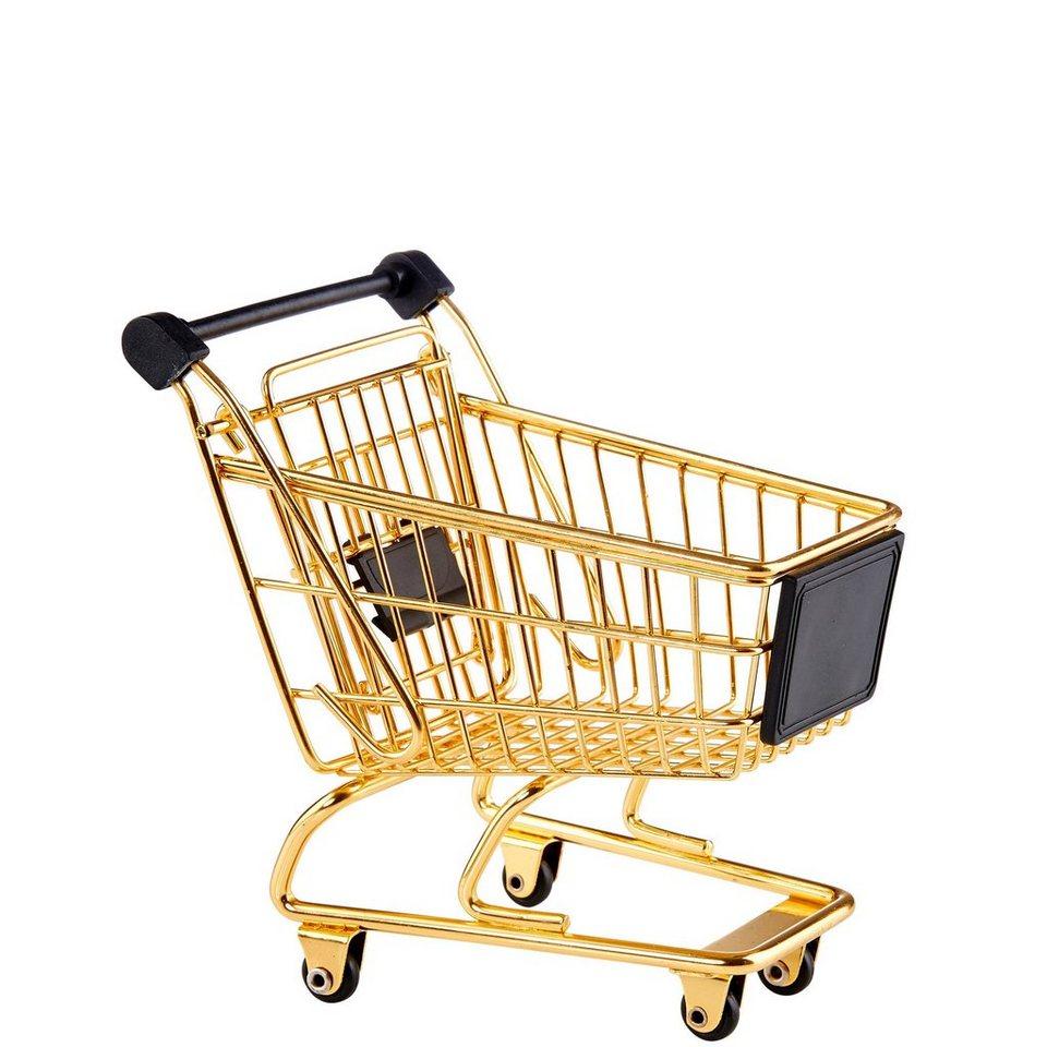 BUTLERS SUPERMARKET »Einkaufswagen« in gold-schwarz