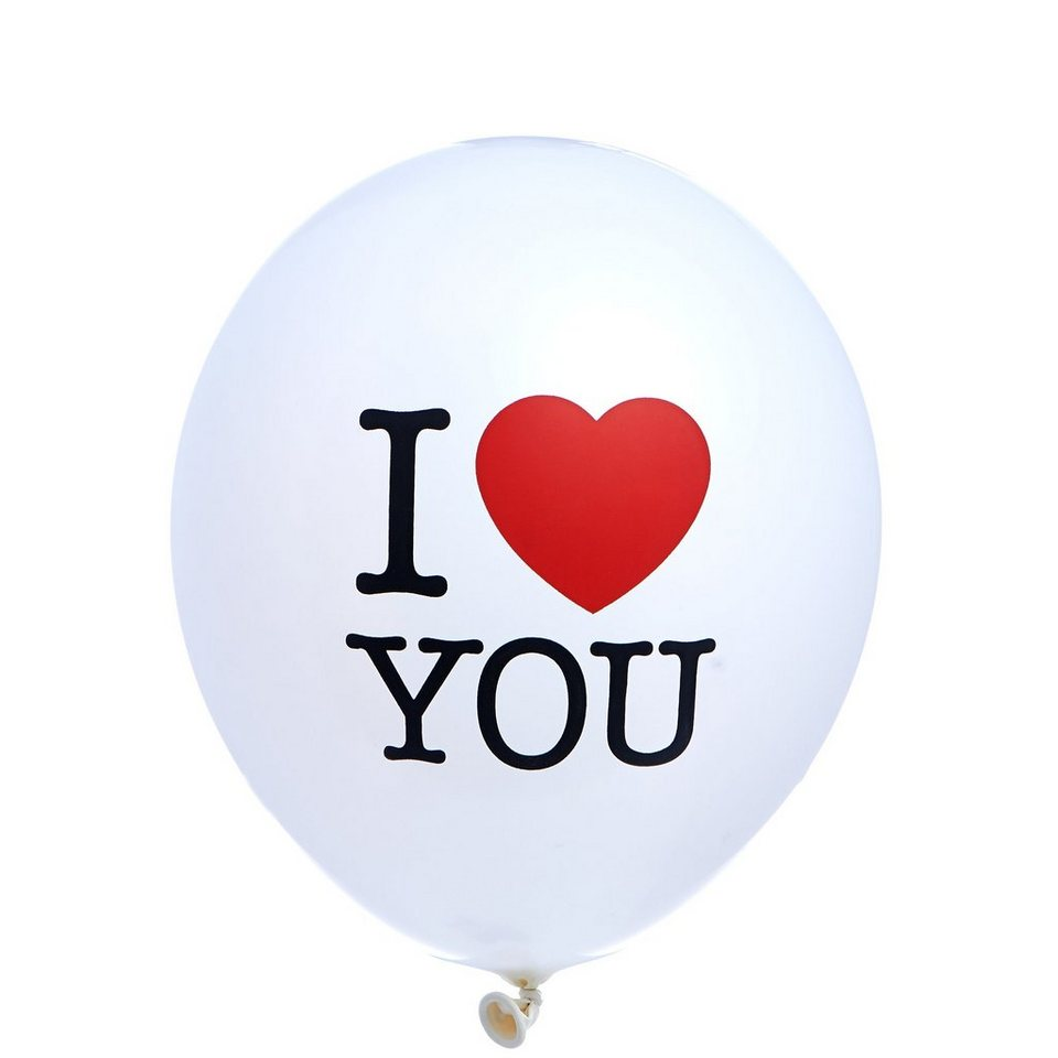 BUTLERS HEART TO HEART »Ballon I Love You« in weiss