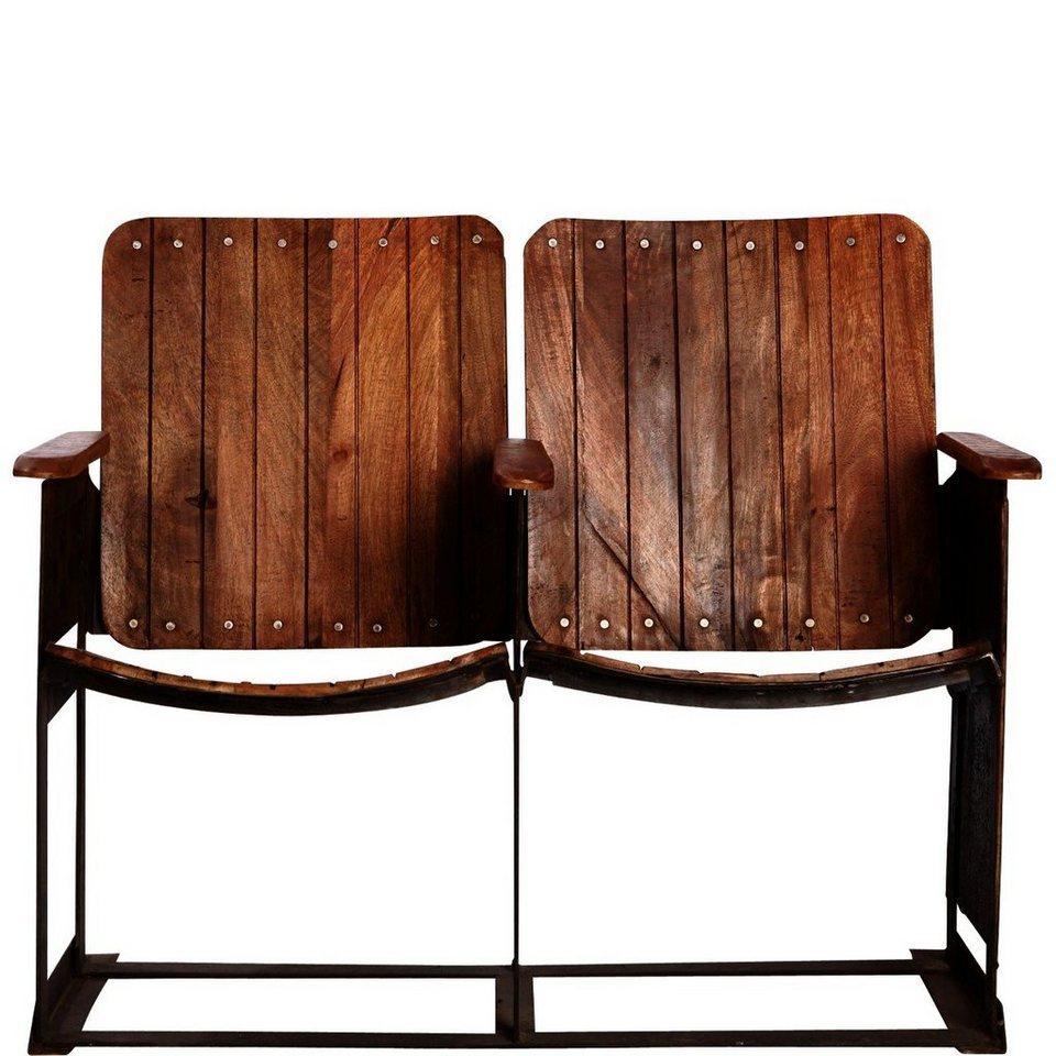 BUTLERS CINEMASTER »Kino-Stuhlreihe mit 2 Holzsitzen« in Braun