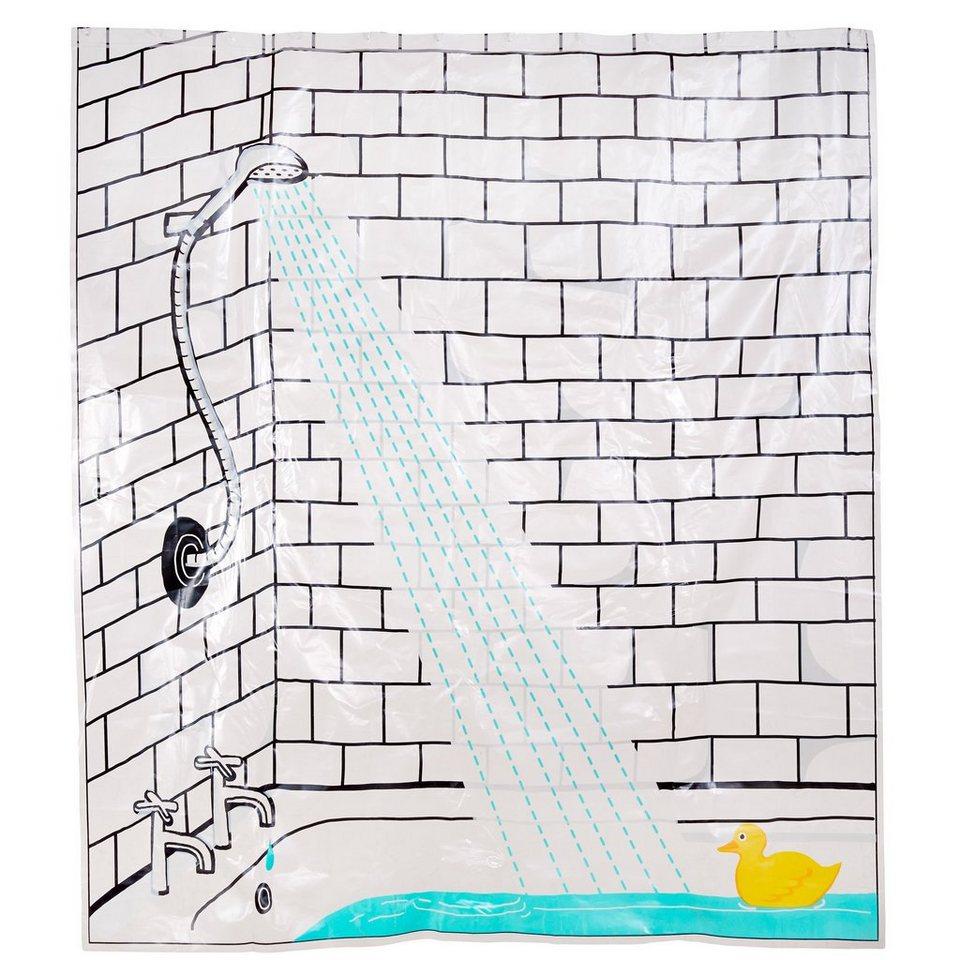 BUTLERS WET WET WET »Duschvorhang Ente« in bunt