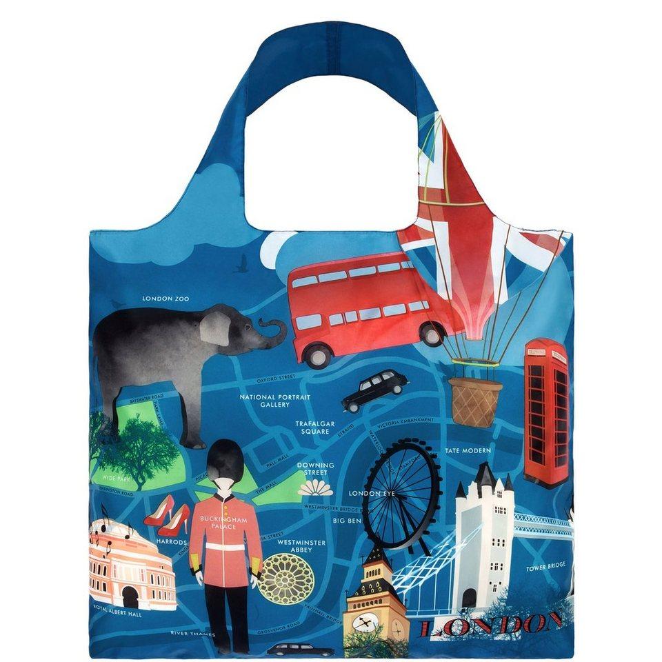 BUTLERS LOQI »Einkaufstasche London« in blau