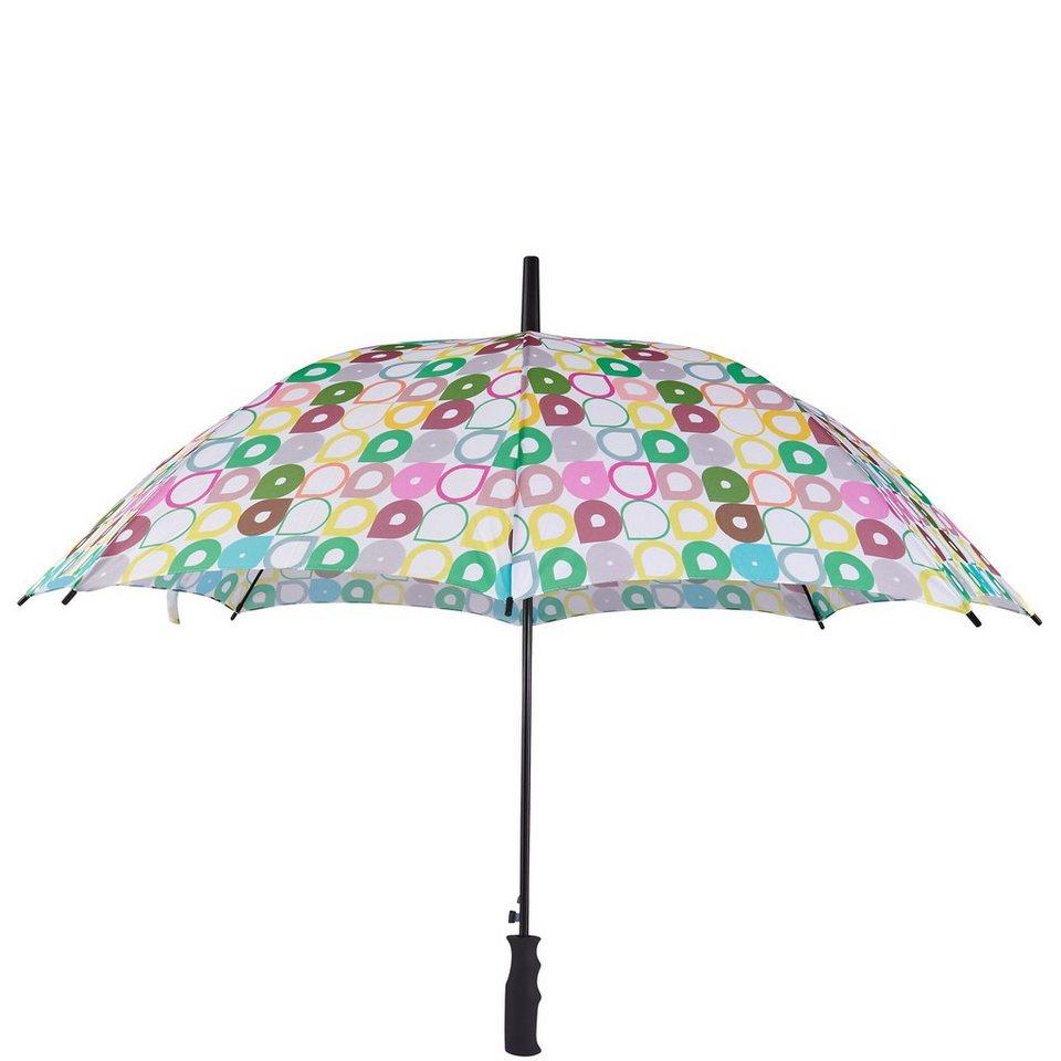BUTLERS BODYGUARD »Regenschirm Tropfen« in gruen