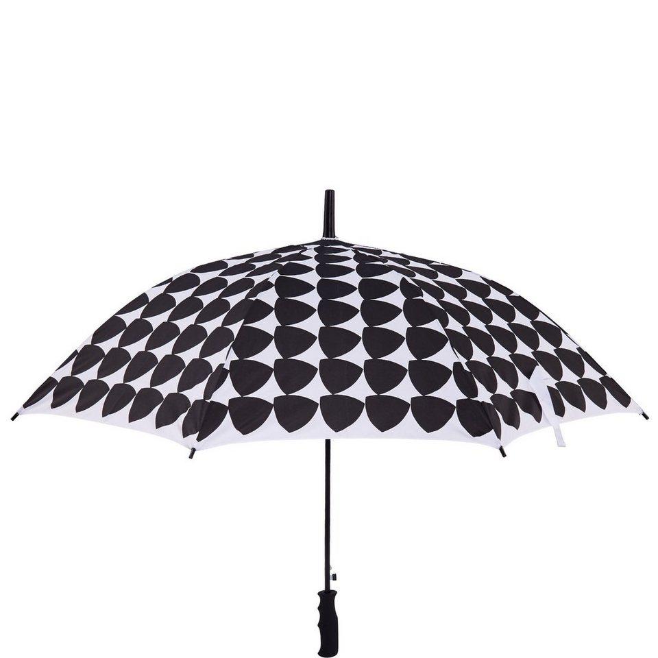 BUTLERS BODYGUARD »Regenschirm Dreiecke« in schwarz-weiss