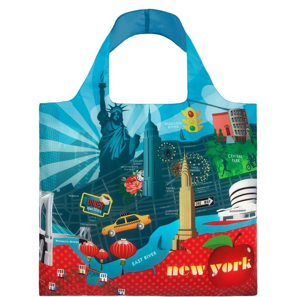 BUTLERS LOQI »Einkaufstasche New York« in blau