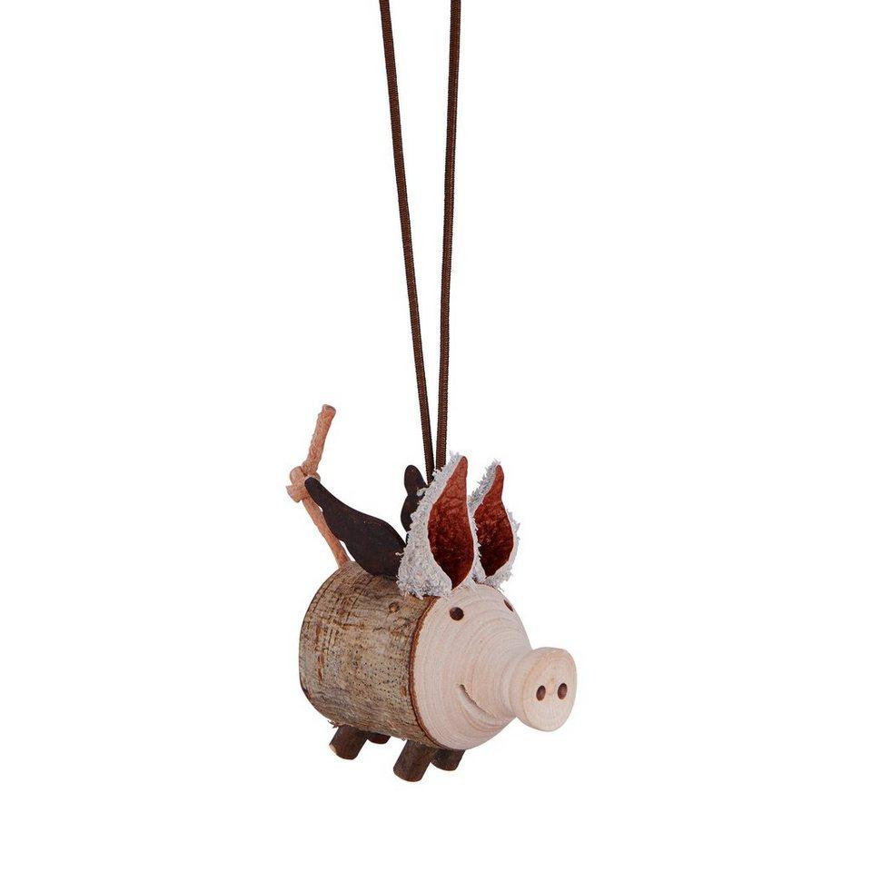 BUTLERS ANGELO »Anhänger Glücksschweinchen« in braun