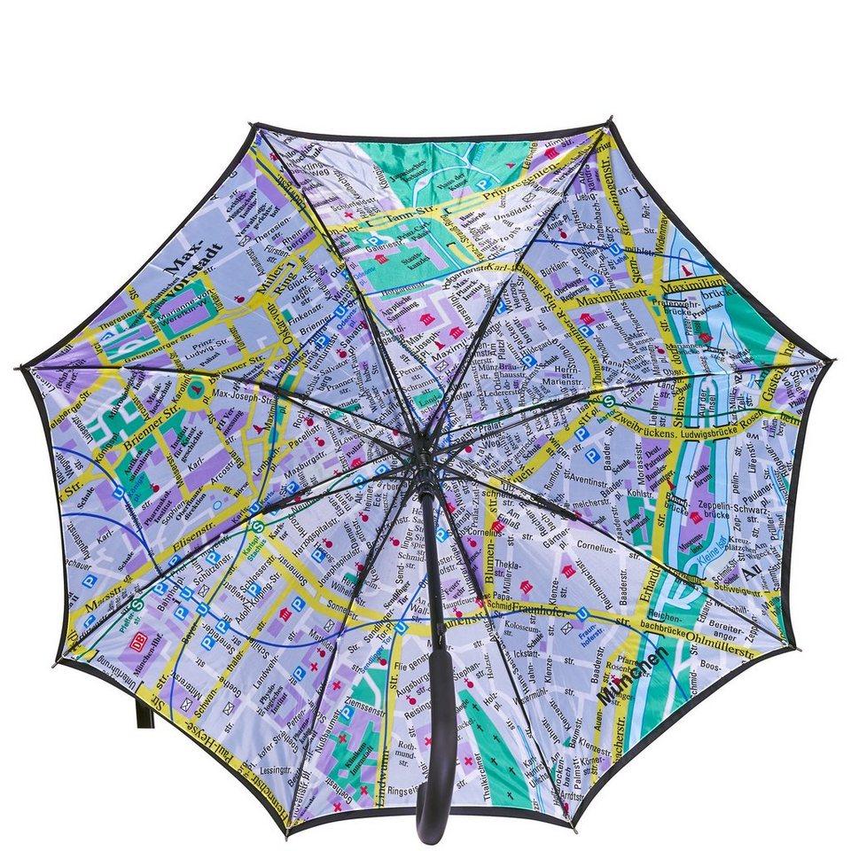 BUTLERS MÜNCHEN »Regenschirm München« in schwarz-bunt