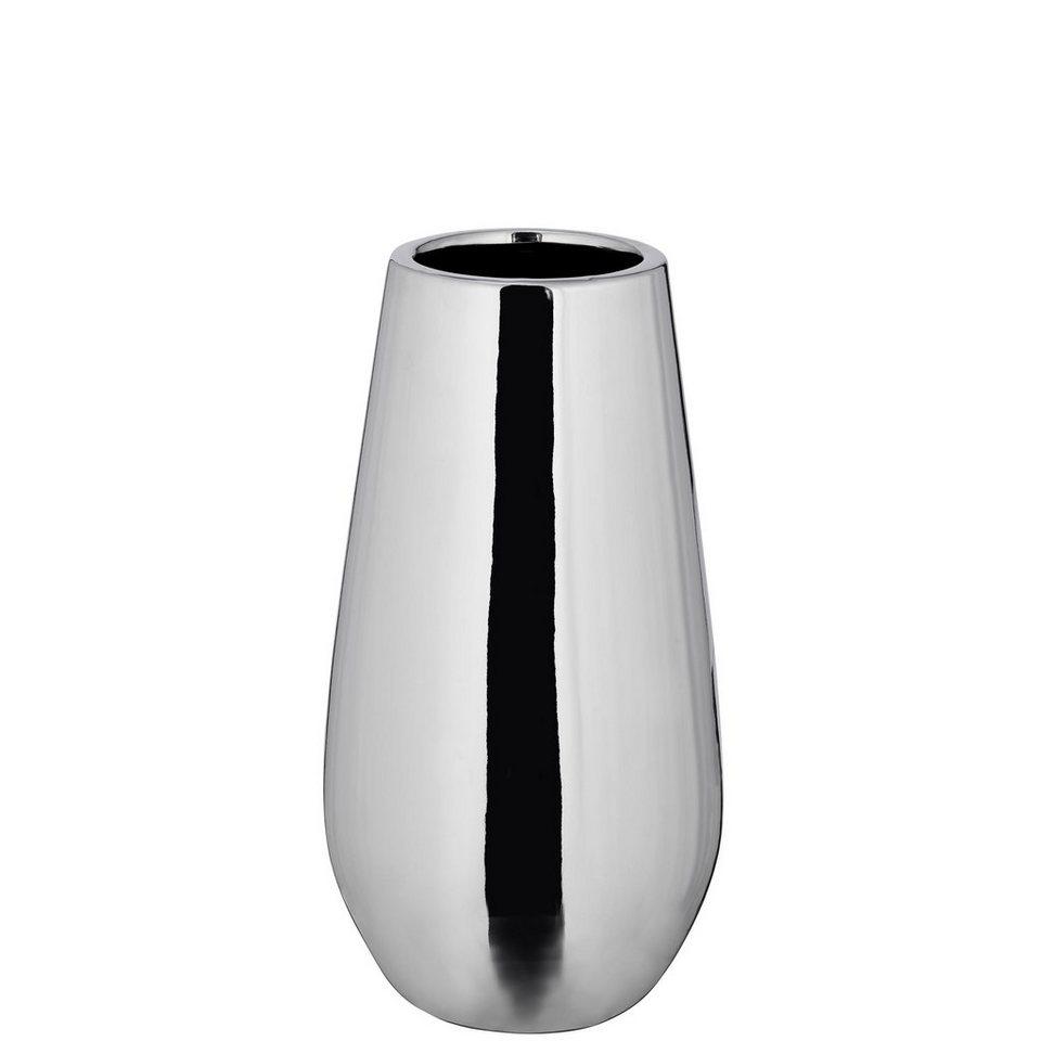 BUTLERS SILVER STONE »Keramik Vase klein« in silber
