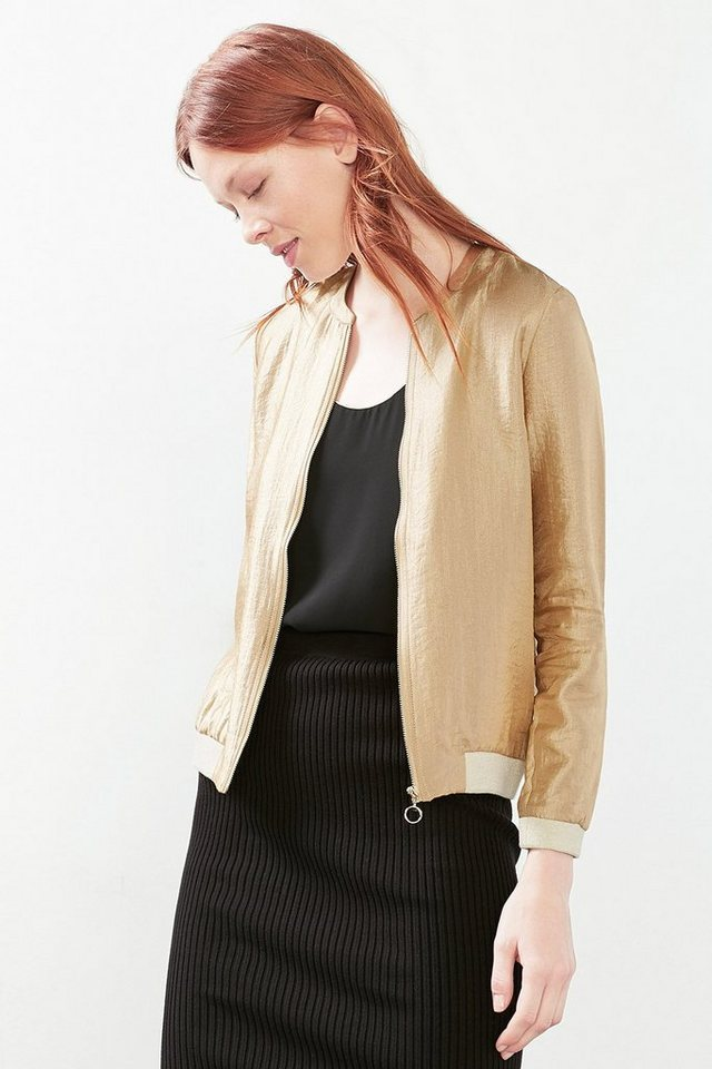 ESPRIT COLLECTION Shiny Bomberjacke in GOLD