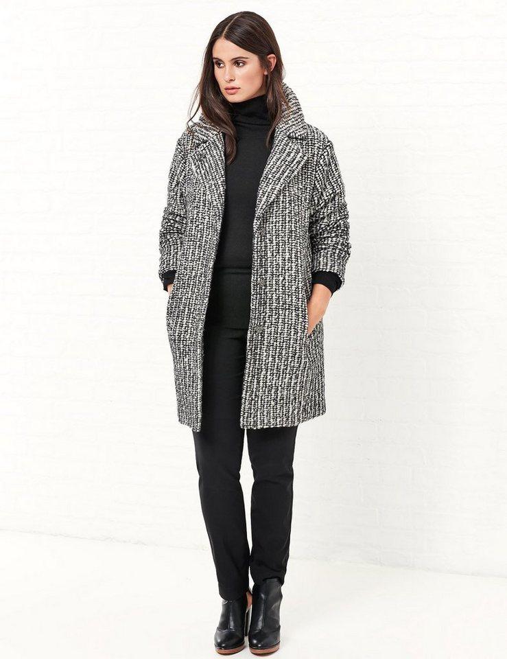 Samoon Outdoorjacke Wolle »Übergangsjacke« in Schwarz gemustert