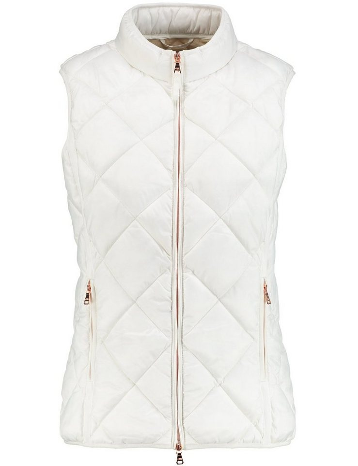Gerry Weber Weste Outdoor lang »Weste mit Rautenstepp« in Off-White