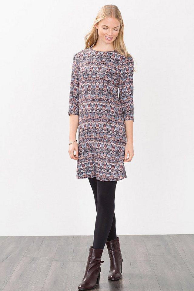ESPRIT CASUAL Fließendes Print-Kleid im 70s-Style in GREY BLUE