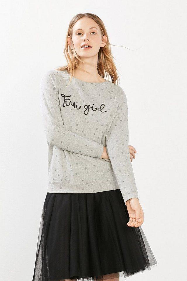 EDC Sweatshirt aus 100% Baumwolle in MEDIUM GREY