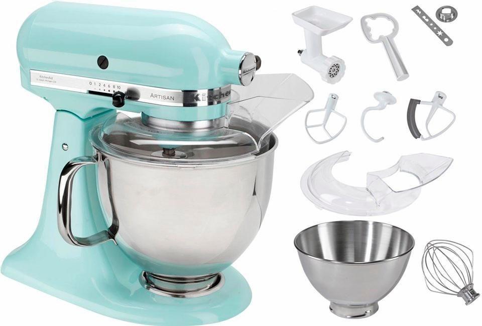 KitchenAid® Küchenmaschine 5KSM175SEIC Artisan, inkl Sonderzubehör im Wert von ca. 214,-€ in eisblau